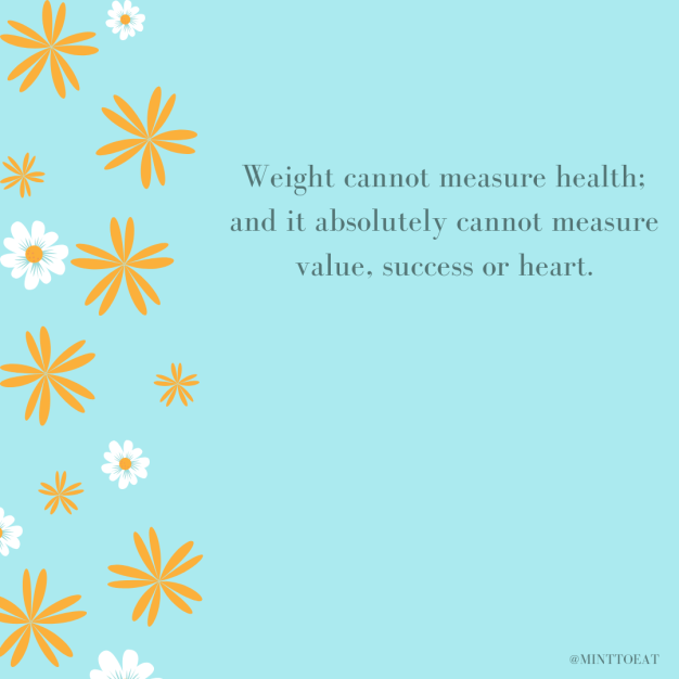 Weight cannot measure health.-2
